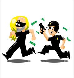 Police vs thief vector