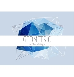Polygonal geometric abstract trendy background vector