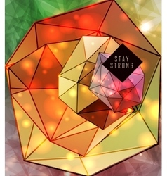 polygonal triangles and space background vector image