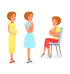 pregnant woman woman with vector image