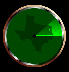 radar on texas vector image