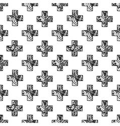 scandinavian minimal style cross pattern vector image