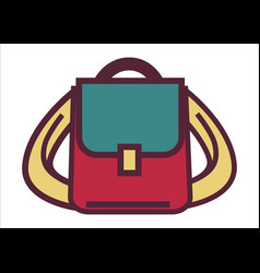 School rucksack or pupils satchel bag vector