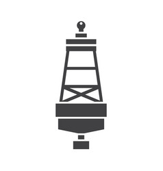 Sea buoy icon vector
