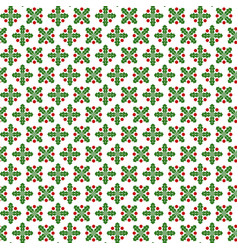 seamless pattern with abstract image mistletoe vector image