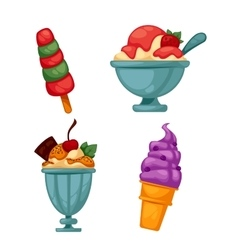 Set of colorful tasty ice cream vector image