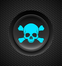 Skull and crossbones button vector image