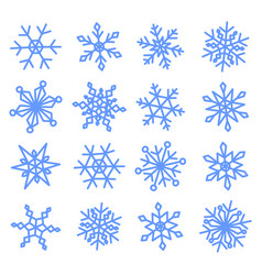snowflakes doodle set for your christmas design vector image