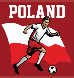 soccer player of poland vector image
