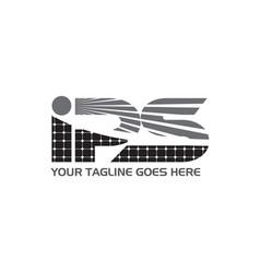 solar cell power logo designs modern vector image