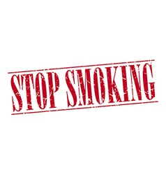 Stop smoking red grunge vintage stamp isolated on vector