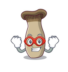 super hero king trumpet mushroom character cartoon vector image