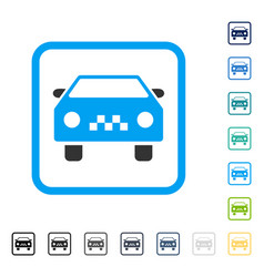 taxi car framed icon vector image