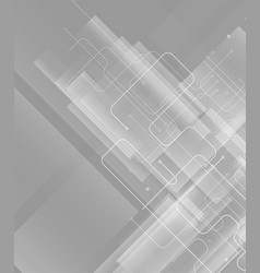 Technology on gray background vector