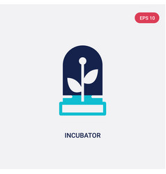 two color incubator icon from future technology vector image