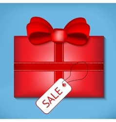 Valentine red gift box vector