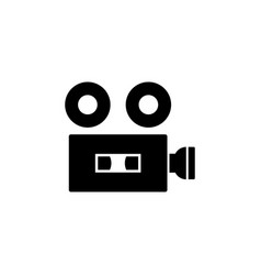 video camera camera icons movie sign cinema vector image