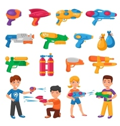 Water Pistols Set vector image