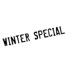 Winter special rubber stamp vector