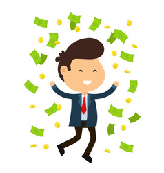young happy funny smiling businessman vector image