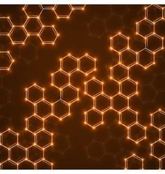 Abstract molecular structures technology vector