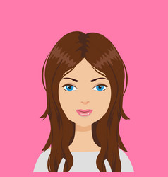 beautiful woman with brown hair vector image