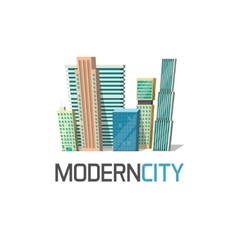 City buildings logo isolated town construction vector image