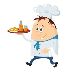 Cook with drinks vector image vector image