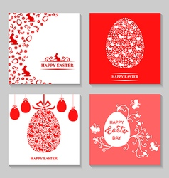 Easter card3 set vector
