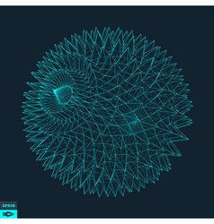 3d Sphere With Prickles Abstract Geometric Object vector image