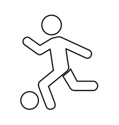 human silhouette playing soccer vector image