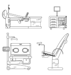 medical equipment set Obstetrics And Gynecology vector image vector image