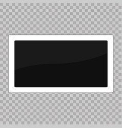 square frame template white plastic border on a vector image