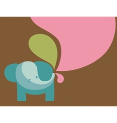 elephant with pastel colors vector image vector image