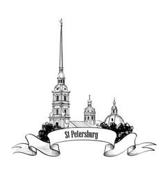 st petersburg city landmark russia cityscape sign vector image vector image