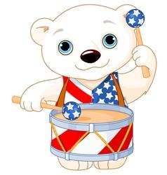 4th of july polar bear vector