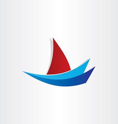 boat on water stylized icon design vector image vector image