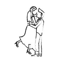 couple wedding love romance sketch vector image