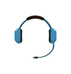Headphones icon in cartoon style vector image vector image