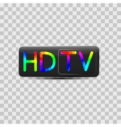 High-definition video sign vector image