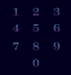 numbers with ornament vector image vector image