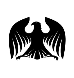 Stylized powerful black eagle silhouette vector image vector image