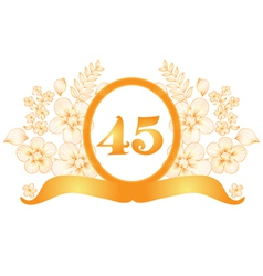 45th anniversary banner vector