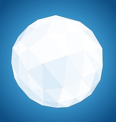 Abstract geometric paper origami sphere vector
