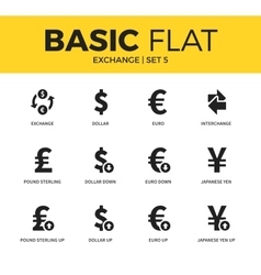 Basic set of exchange icons vector
