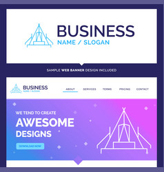 Beautiful business concept brand name tent vector