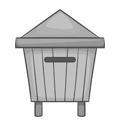 Beehive icon black monochrome style vector