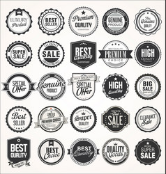 big sale retro badges and labels collection vector image