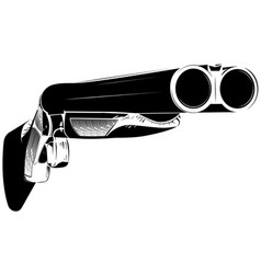 Black and white shotgun vector