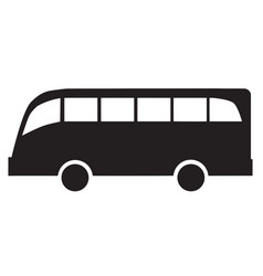 black silhouette of a bus vector image